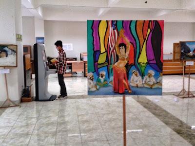 Lukisan dilantai 3 Perpustakaan