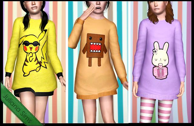 Empire Sims 3: Comfy Kids Sweatshirts by Juliana