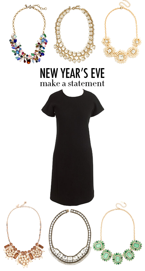 New Years Eve Little Black Dress and Statement Necklaces by @Collegeprepster