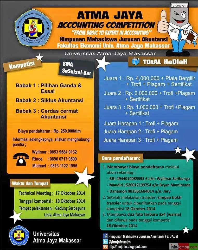 Lomba Akuntansi Tingkat Sma Se Sulawesi Selatan Dan Barat