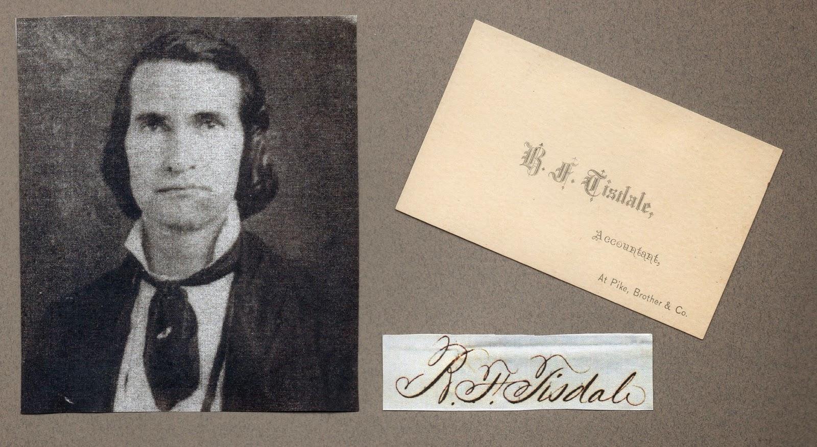 B. F. Tisdale c1850, belletisdale.blogspot.com