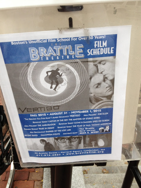 Schedule of films for The Brattle Theatre in Harvard Square Cambridge, MA