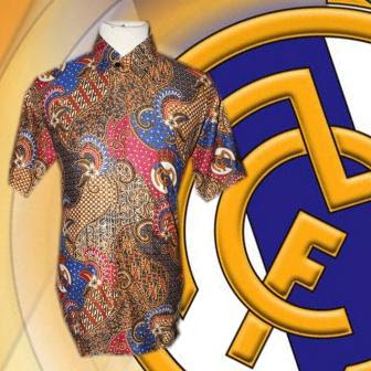 Baju Batik Real Madrid plus Logo