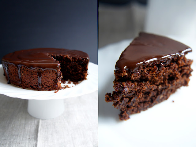 Sugary & Buttery - Avocado Chocolate Cake with Coffee-Chocolate Glaze