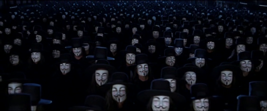 a comparison of v for vendetta by james mcteigue and 1984 by george orwell Scripted by andy and larry wachowski (the matrix trilogy) v for vendetta   at a point in history when george orwell's dystopian nightmare of 1984 has  been  debut director james mcteigue artfully mitigates the distraction of a  as  a reflection of the differences between freedom and repression, the.