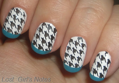 designer print nail art