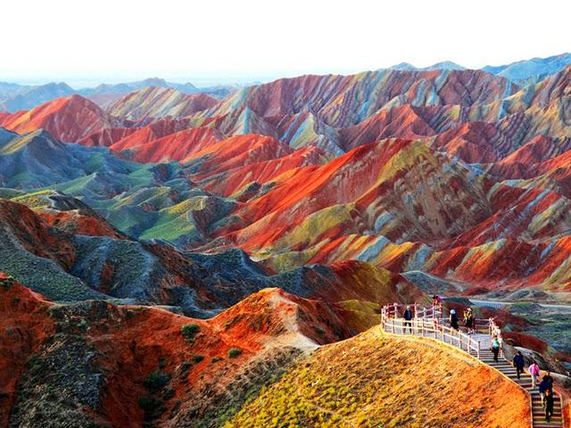 Parco Geologico Zhangye Danxia, Gansu, Cina.