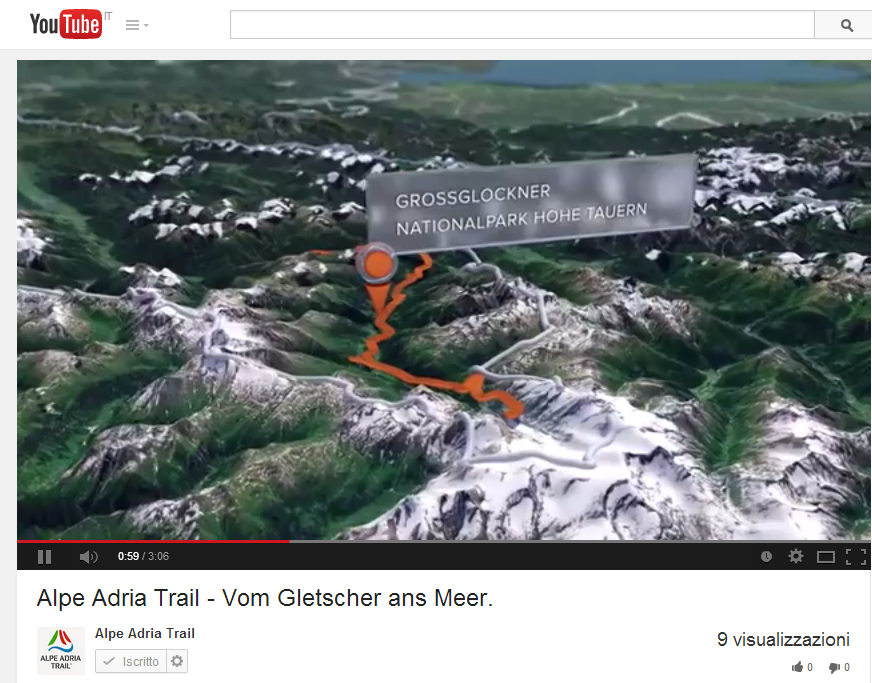PRESENTAZIONE VIDEO TRAIL ALPE ADRIA