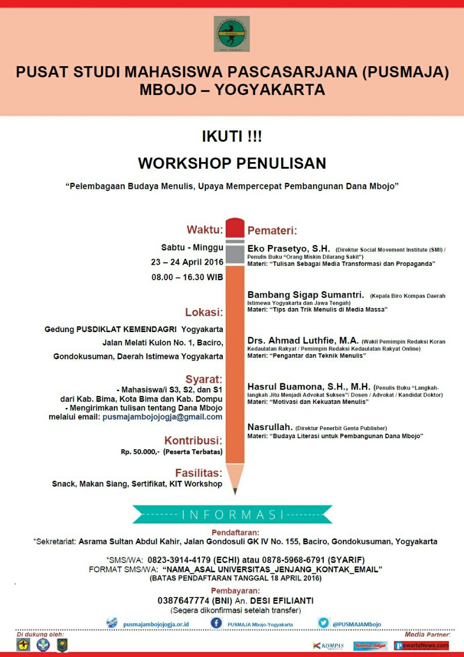 Info Workshop Penulisan PUSMAJA