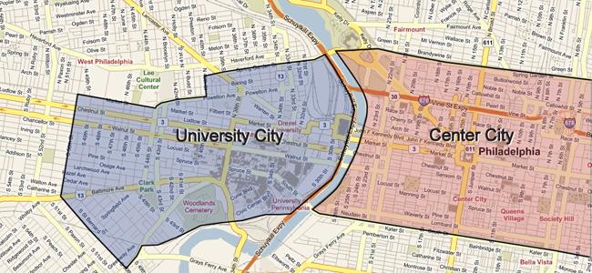 My Penn GSE A City Of Neighborhoods - Philadelphia university map