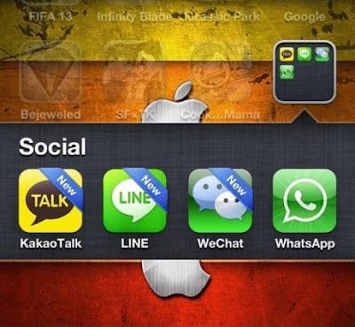 Perbandingan Wechat, KakaoTalk, Whatsapps dan Line