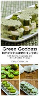 Green Goddess Tomato-Mozzarella Stacks [from KalynsKitchen.com]