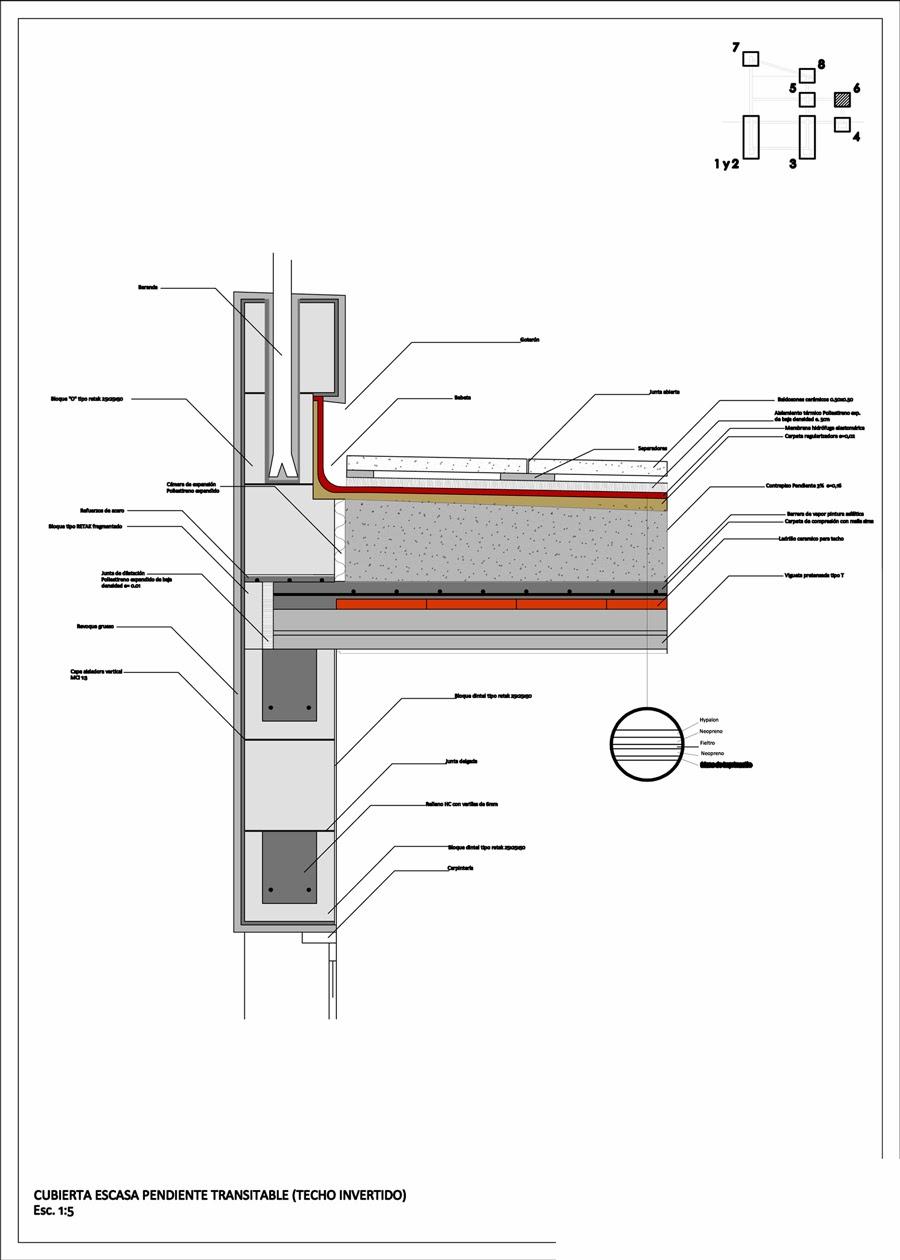 Detalles constructivos submuracion con supresion construcciones castellano 1 aprender autocad - Detalle constructivo techo ...