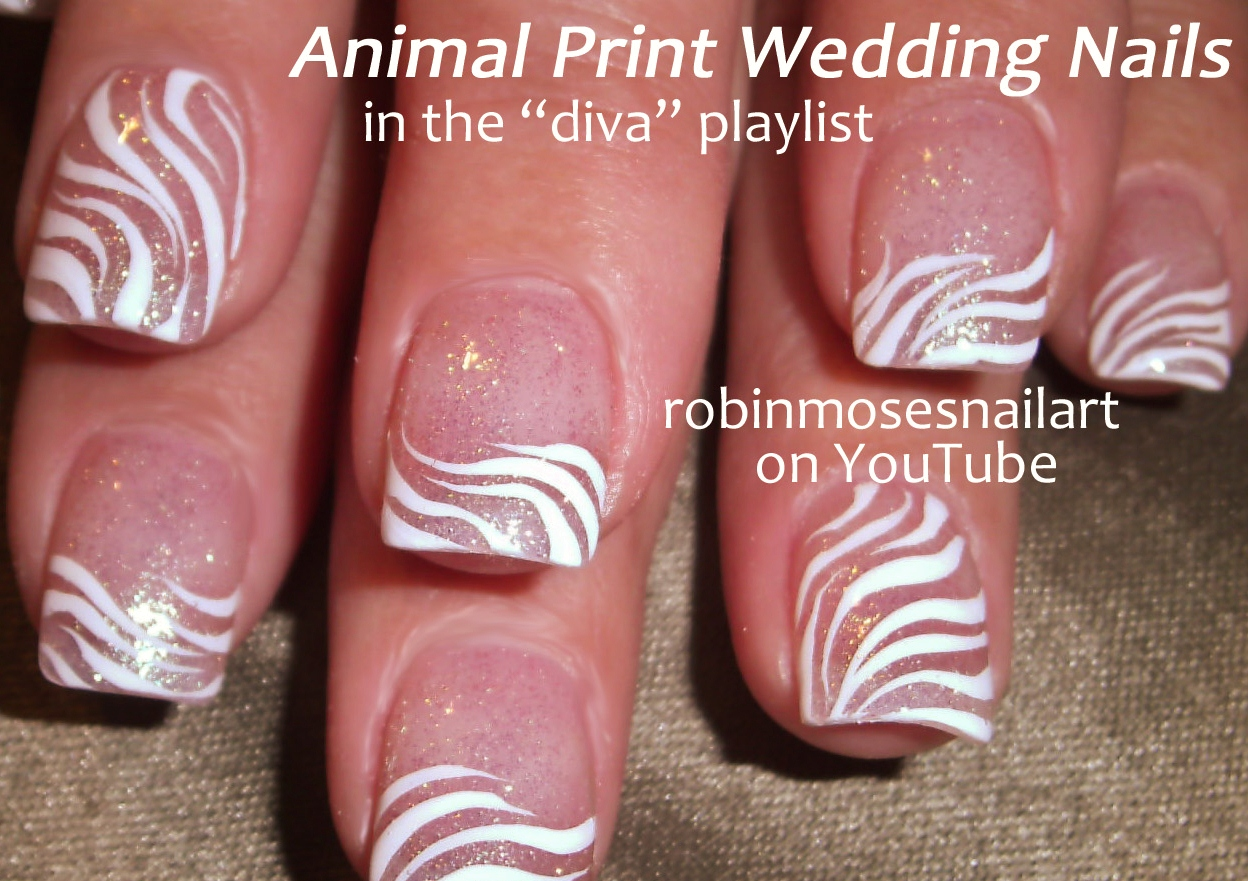Nail Art Zebra Print