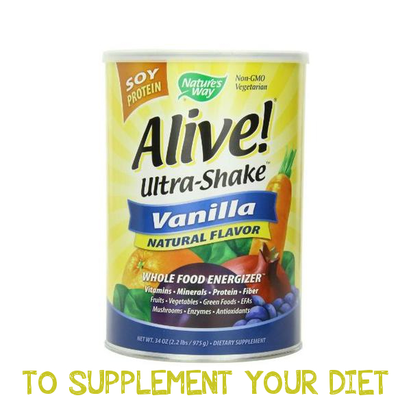 TO SUPPLEMENT YOUR DIET