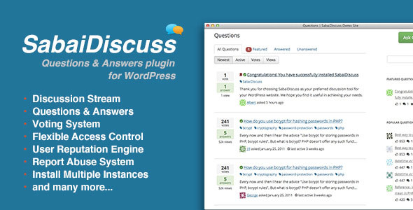 Free Download Sabai Discuss plugin V1.3.25 for WordPress Plugin