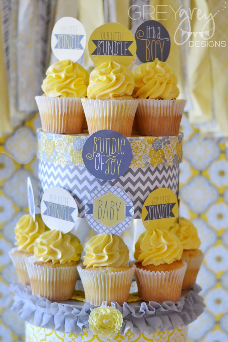 Greygrey Designs My Parties Yellow And Grey Bundle Of Joy Baby Shower