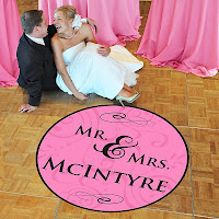 Wedding Dance Floor Decorated with Personalized Wedding Decal