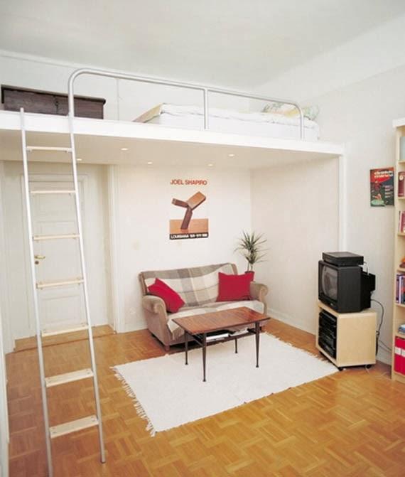 Blog de decora o arquitrecos cama suspensa quarto for Decoracion de loft pequenos