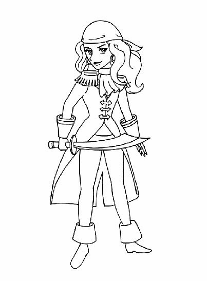 girl pirate coloring pages - merryprintables coloring pages for kids