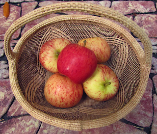 Basket with Five Gala Apples