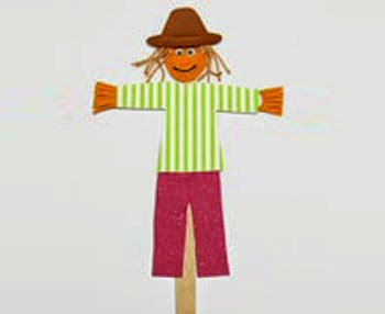 Craft Stick Scarecrow