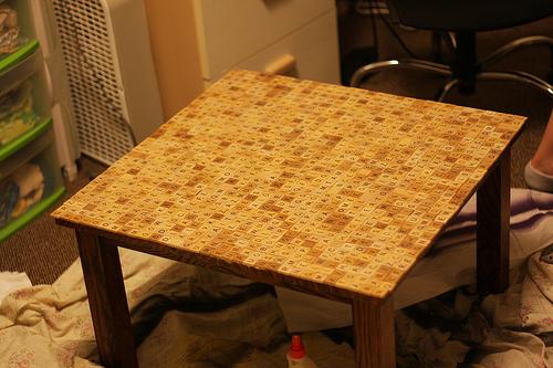Backyard Scrabble Tiles : jen hindes scrabble table green butterflies scrabble tile pillows