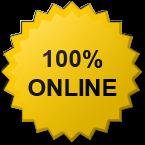 Perkhidmatan ini 100% Online