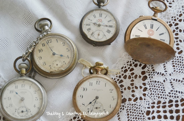 Brocante Clocks- shabby&countrylife.blogspot.it
