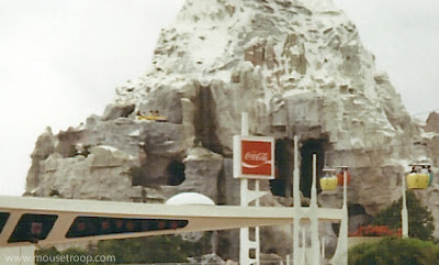 Matterhorn Disneyland Skyway bobsleds original open upper turn