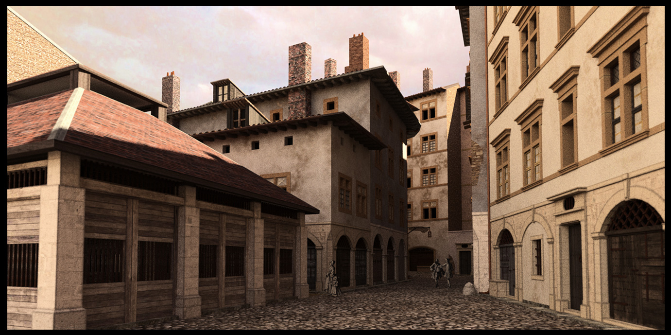 Lyon en 1700 for Jardin 19eme siecle
