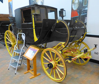 Travelling chariot at National Trust Carriage Museum at Arlington Court