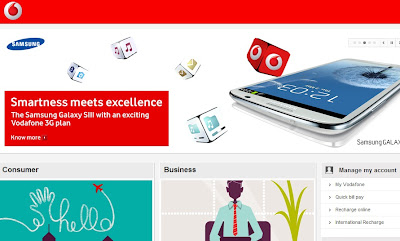 Vodafone India Homepage