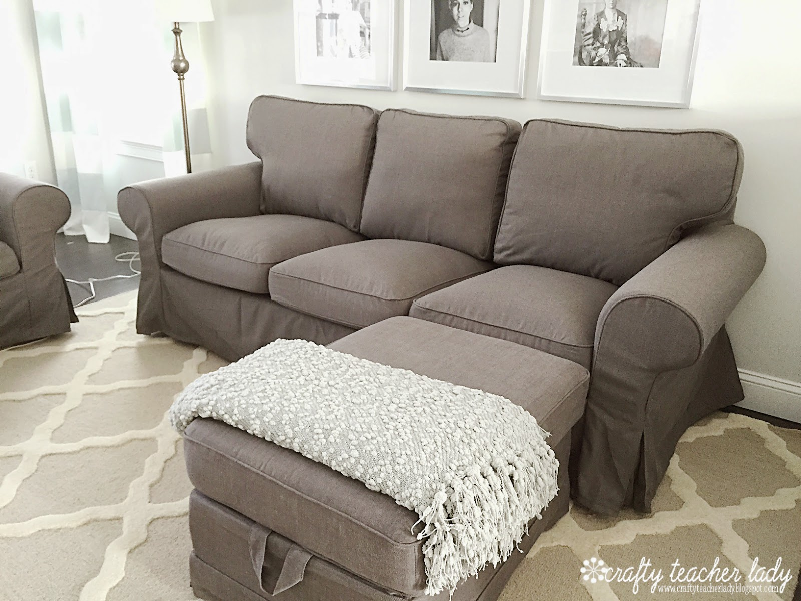 Crafty teacher lady review of the ikea ektorp sofa series for Ikea sofa set