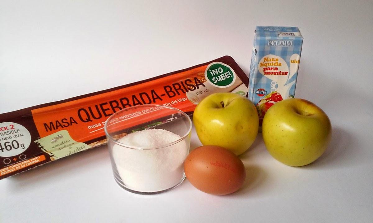 ingredientes tarta de manzana con hojaldre