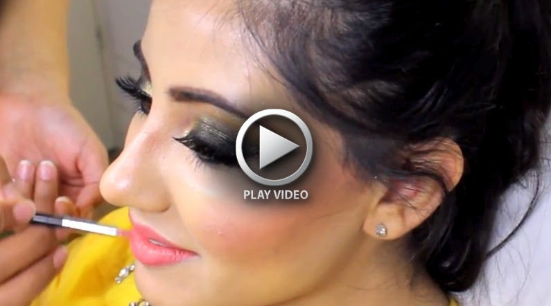 Mehndi Wedding Dresses 2016 : Mehndi occasion bridal makeup tutorial 2015 2016 style hunt world