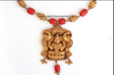 Coral Beads Temple Necklace