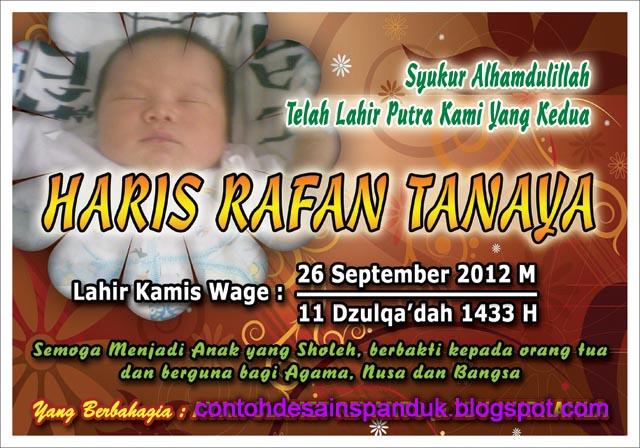 spanduk banner, nama bayi, walimatul asma, nama berkat