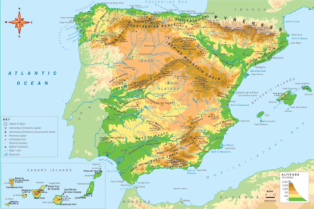 science history and geography year 5 and 6 the relief of spain