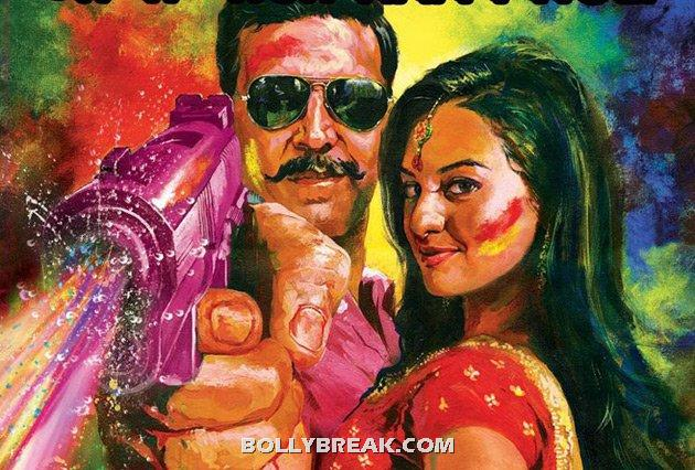 Old akshay and young sonakshi - Old  heros and young heroines- Rowdy Rathore to gadar