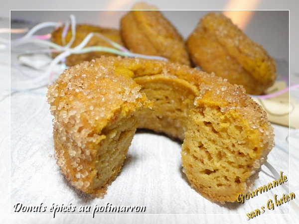 Donuts épicés au potimarron sans gluten