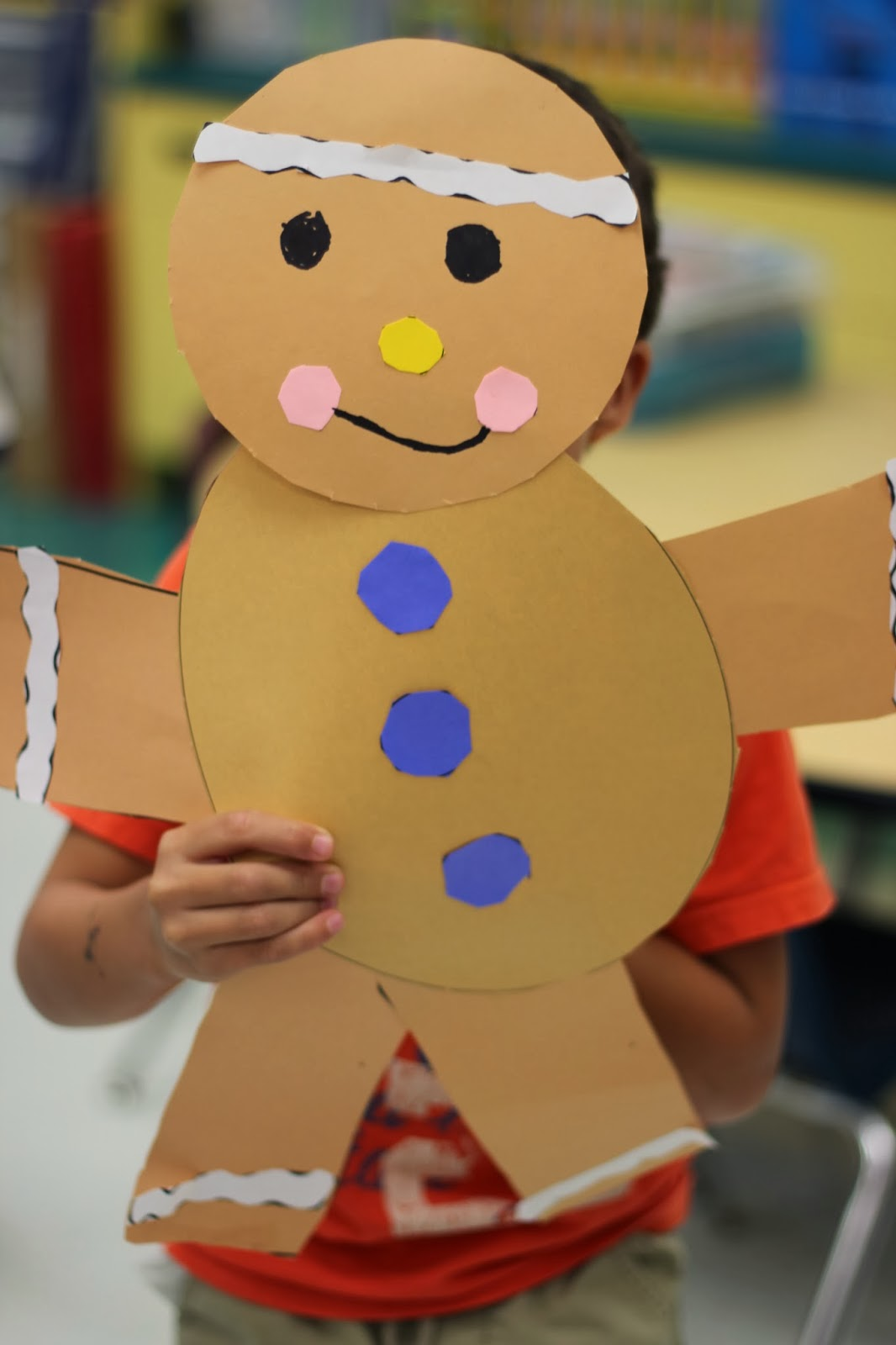 Kindergarten smiles gingerbread craft for Gingerbread crafts for kindergarten