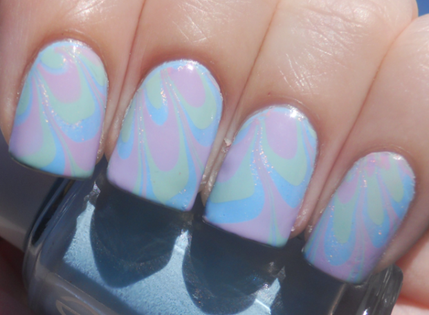 holy manicures easter water marble