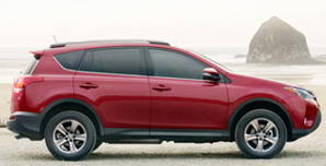 2013 Toyota RAV4 XLE red