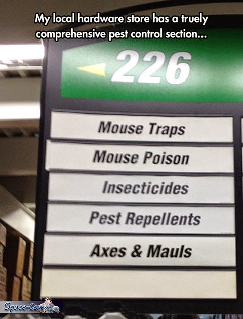funny things pest control