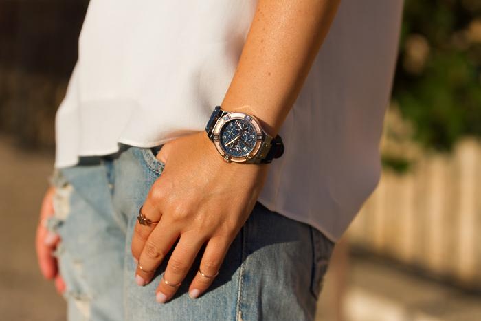 Tendencias moda relojes nueva colección oro rosa y plata