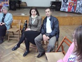 Împreună cu Prof. dr. Luminiţa Moscalu, la dezbaterea privind problematica Holocaustului-8.10.2012
