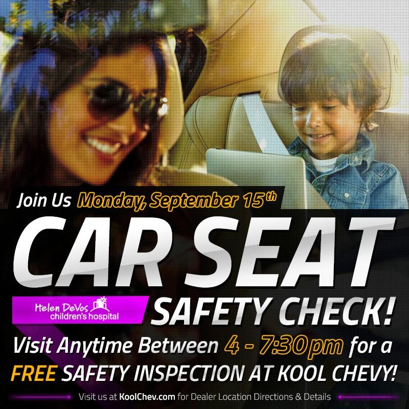 Car Seat Safety Check at Kool Chevrolet