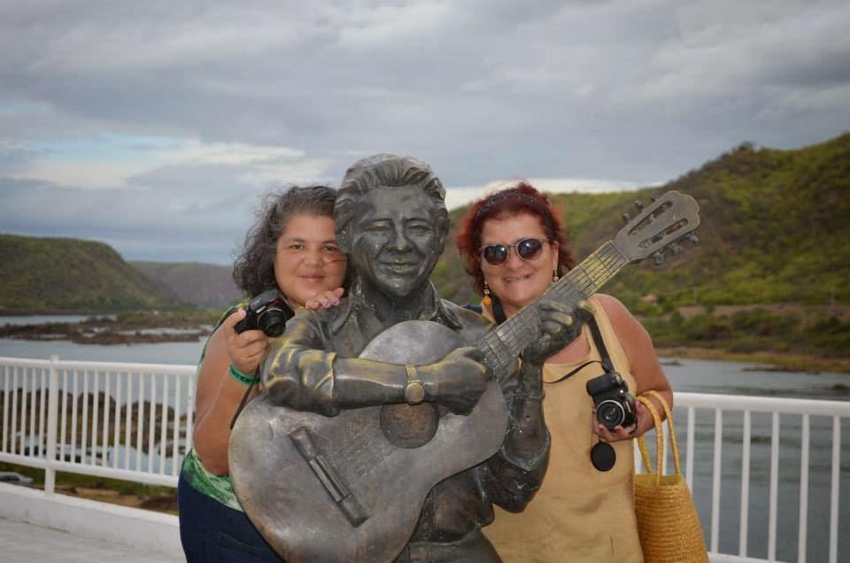 Com a amiga Carla Regina, em Piranhas-Alagoas