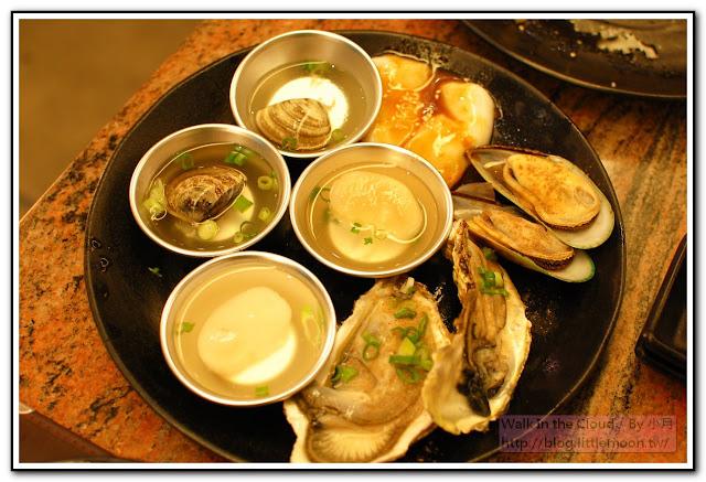大蛤蠣、干貝、孔雀蛤、大牡蠣
